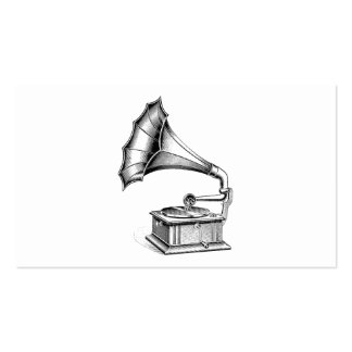 Vintage Phonograph Record Player Music Instrument Double-Sided Standard Business Cards (Pack Of 100)
