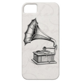 Vintage Phonograph Record Player Musical Parchment iPhone SE/5/5s Case