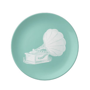 Vintage Phonograph Sea Green White Gramophone Cool Dinner Plate  sc 1 st  Zazzle & Old Gramophone Plates   Zazzle