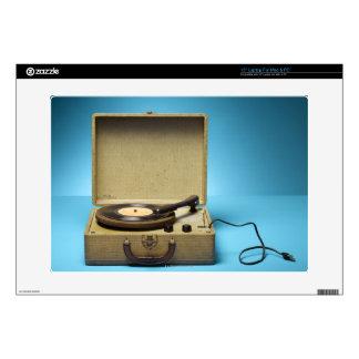 "Vintage Phonograph Skin For 15"" Laptop"