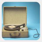 Vintage Phonograph Square Sticker