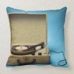 Vintage Phonograph Throw Pillow