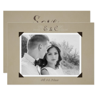 Vintage Photo Album Save The Date Card
