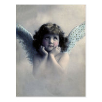 Vintage Photo Angel Postcard