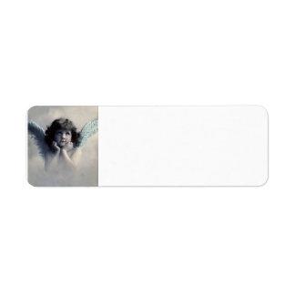 Vintage Photo Angel Return Address Label