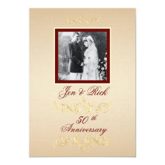 Vintage Photo Anniversary Invites
