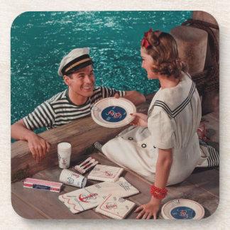 Vintage Photo Beverage Coaster