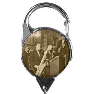 Vintage Photo Big Band Sax Badge Holder