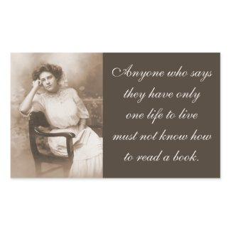 Vintage Photo Book / Reader Quote sticker