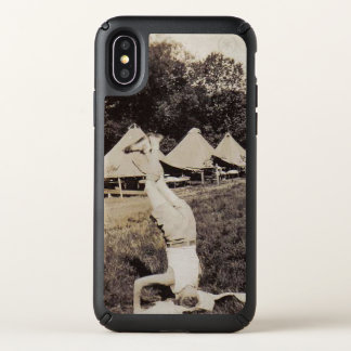 Vintage Photo Boy Scout Hand Stand iPhone 10 Speck iPhone X Case