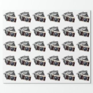 VINTAGE PHOTO CAMERA PATTERN WRAPPING PAPER