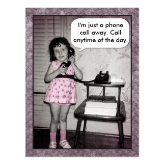 Vintage Photo Custom Phone Call Away Postcard