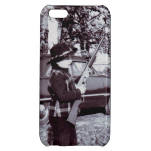 Vintage Photo Cute Little Cowboy with Gun 50s Cover For iPhone 5C