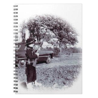 Vintage Photo Cute Little Cowboy with Gun 50s Spiral Notebook