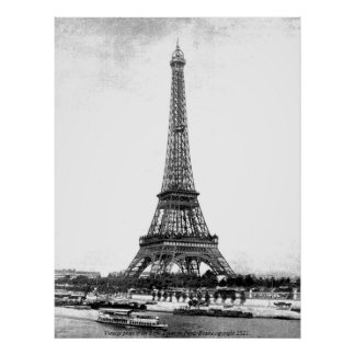 Vintage Photo - Eiffel Tower in Paris, France Posters