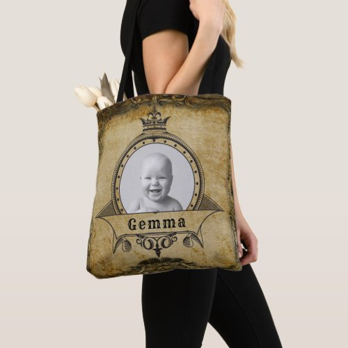 Vintage Photo Feminine Stylish Retro Picture Girly Tote Bag