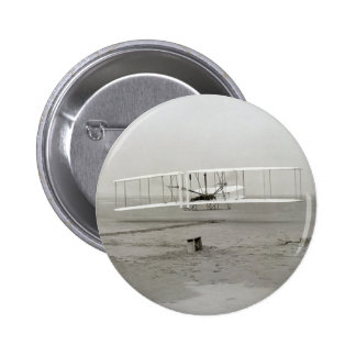 Vintage photo First Plane Flight Wright Brothers 2 Inch Round Button