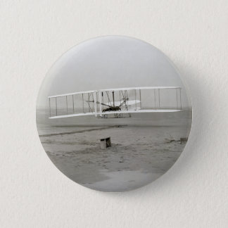 Vintage photo First Plane Flight Wright Brothers Button
