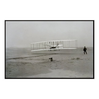 Vintage photo First Plane Flight Wright Brothers Poster