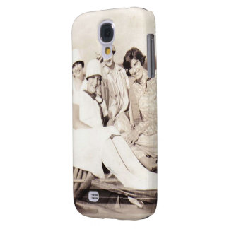 Vintage Photo Flappers in Row Boad Samsung Galaxy S4 Cover