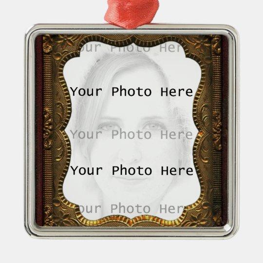 Vintage Photo Frame Metal Ornament
