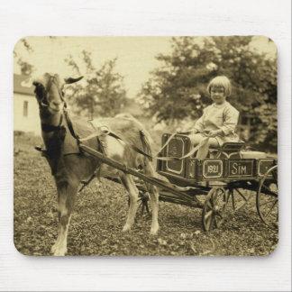 "Vintage Photo- ""Goat Cart""- Mousepad"