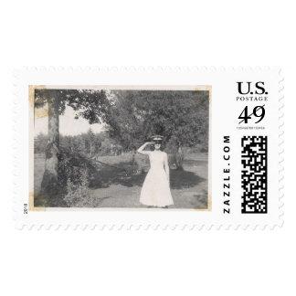 Vintage Photo Military Stamp