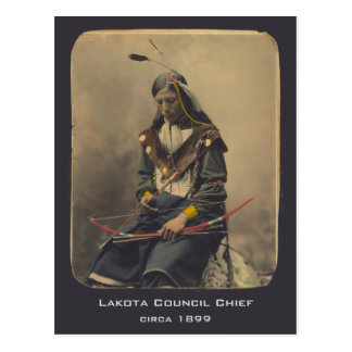 Vintage Photo Native American Lakota Indian Chief Postcard