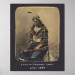 Vintage Photo Native American Lakota Indian Chief Poster