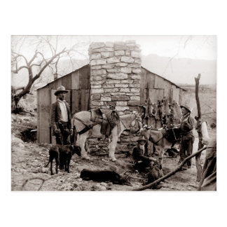 Vintage Photo of a Trappers Cabin Postcard