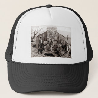 Vintage Photo of a Trappers Cabin Trucker Hat