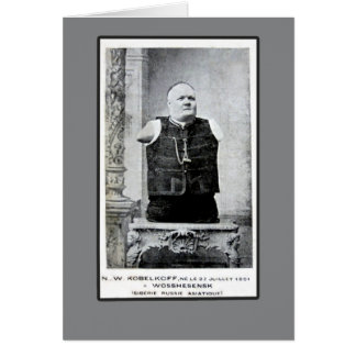Vintage Photo of Armless and Legless Man Cards