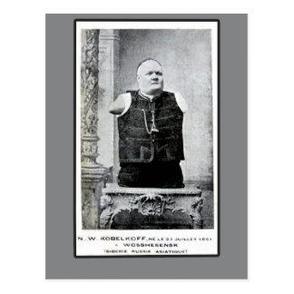 Vintage Photo of Armless and Legless Man Postcard