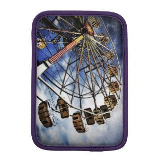 Vintage photo of ferris wheel iPad mini sleeve