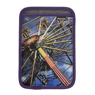 Vintage photo of ferris wheel iPad mini sleeves