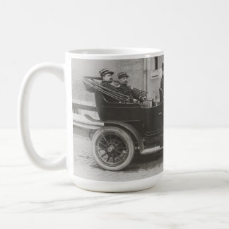 Vintage photo of French soldiers in a Berliet Coffee Mugs