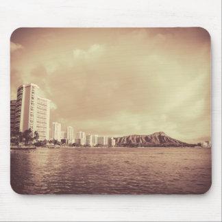 Vintage Photo Of Hawaii Beach Mouse Pad