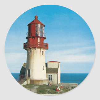 Vintage photo of Lindesnes Lighthouse Classic Round Sticker