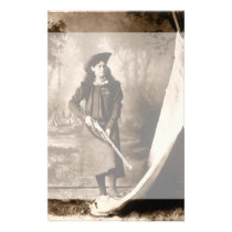 Vintage Photo of Miss Annie Oakley Holding a Rifle Stationery