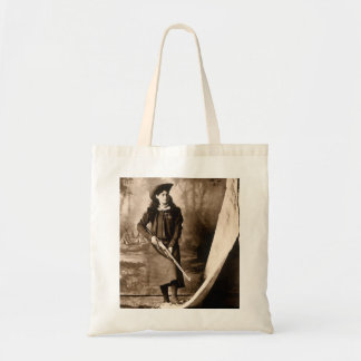 Vintage Photo of Miss Annie Oakley Holding a Rifle Tote Bag