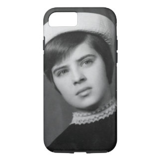 Vintage Photo of Young & Stylish Young Mod Girl iPhone 7 Case