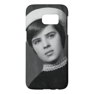 Vintage Photo of Young & Stylish Young Mod Girl Samsung Galaxy S7 Case