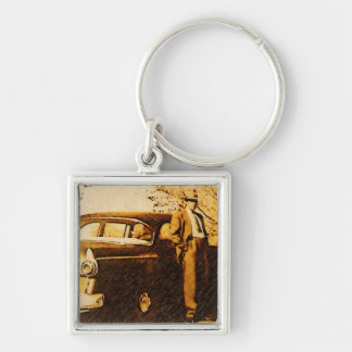 Vintage Photo - Off to Church in Sunday Suits Keychain