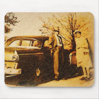 Vintage Photo - Off to Church in Sunday Suits Mousepad
