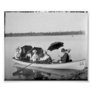Vintage Photo Out on The Lake Print