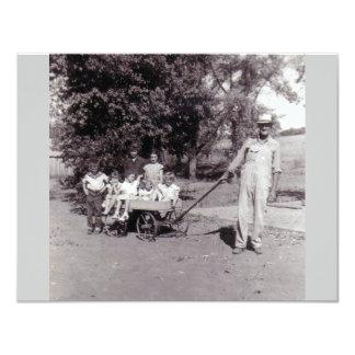 vintage photo party invitations