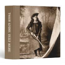 Vintage Photo Portrait, Miss Annie Oakley and Gun 3 Ring Binder