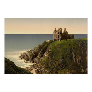 Vintage Photo-Print of Dunsky Castle (1905) Poster