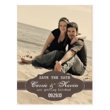 Vintage Photo Save the Date Card Template Post Cards