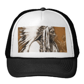 Vintage Photo Sitting Bull Cap Trucker Hat